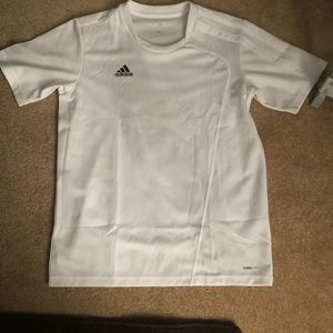 White adidas soccer jersey